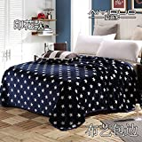 Znzbzt small blanket afternoon nap office single cute mini cover and small blankets winter student adult thick warm ,120x200cm [thick package of health, Blue Sky