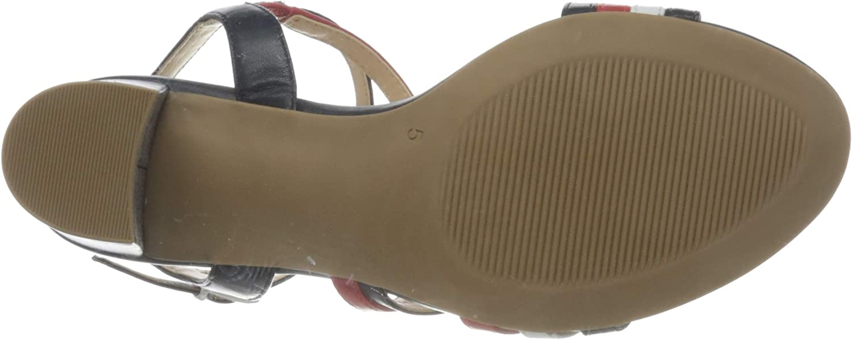 CAPRICE Edison Slingback sandalen voor dames Blue Ocean Red Whit 893