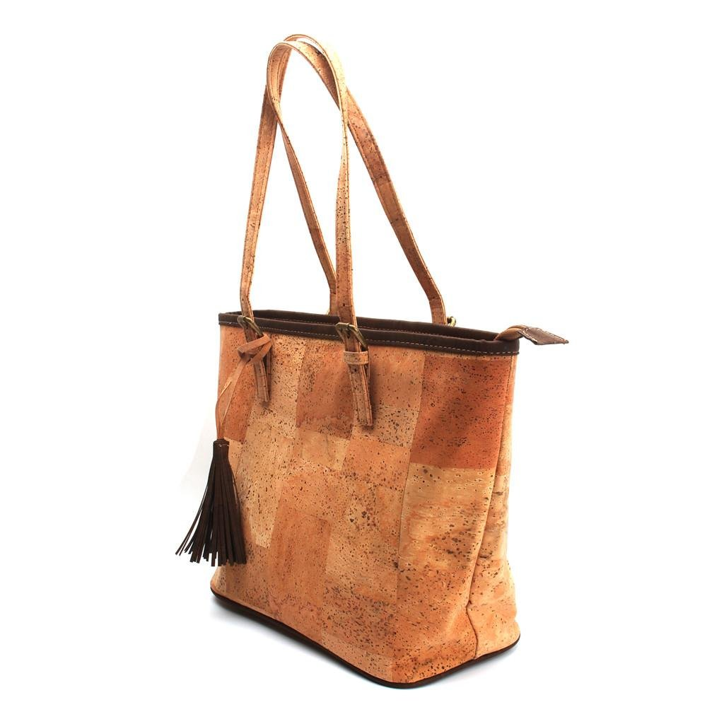 Natural Vegan Cork with tassel women handbag women Original Totes casual totes handbags high quality bag