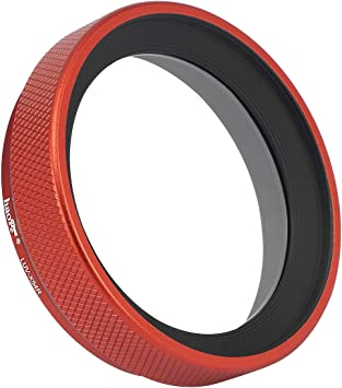 Haoge LUV-X54R Metal Lens Hood with MC UV Protection Multicoated Ultraviolet Lens Filter for Fujifilm Fuji X100V Camera Red