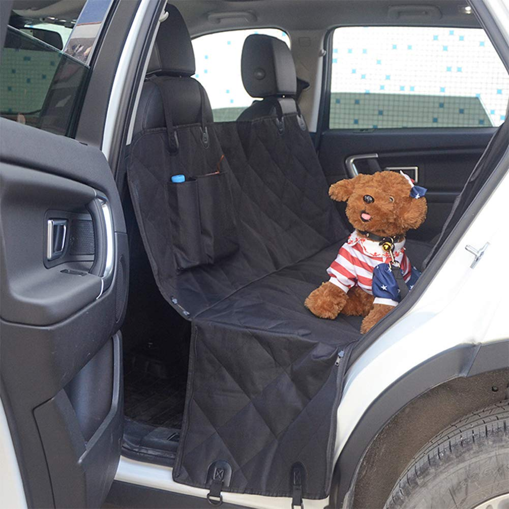Side Flaps,Seat Protector Dog Car Seat Covers Pet Seat Cover for Back Seat with Seat Anchors for Cars Trucks SUV with Mess Window