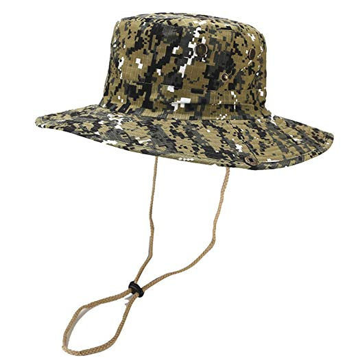5f599c9d13c781 Fishing Baseball caps for Men,Tronet Summer Outdoor Sun Hat Bucket Boonie  Camouflage Cap Adjustable Fishing Hat at Amazon Men's Clothing store: