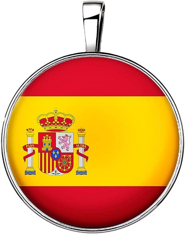 FitYo Collar Bandera España Colgante Cadena Plateado Supporter ...