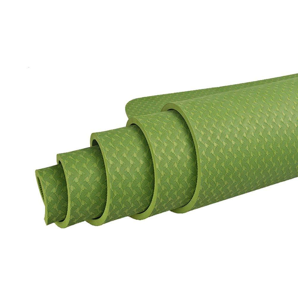 Vert BAIF Tapis de Yoga pour débutant TPE Sports Blanket Tapis de Prougeection de l'environnement antidérapant Prougeection de l'environnement 6mm, 8mm d'épaisseur 6mm
