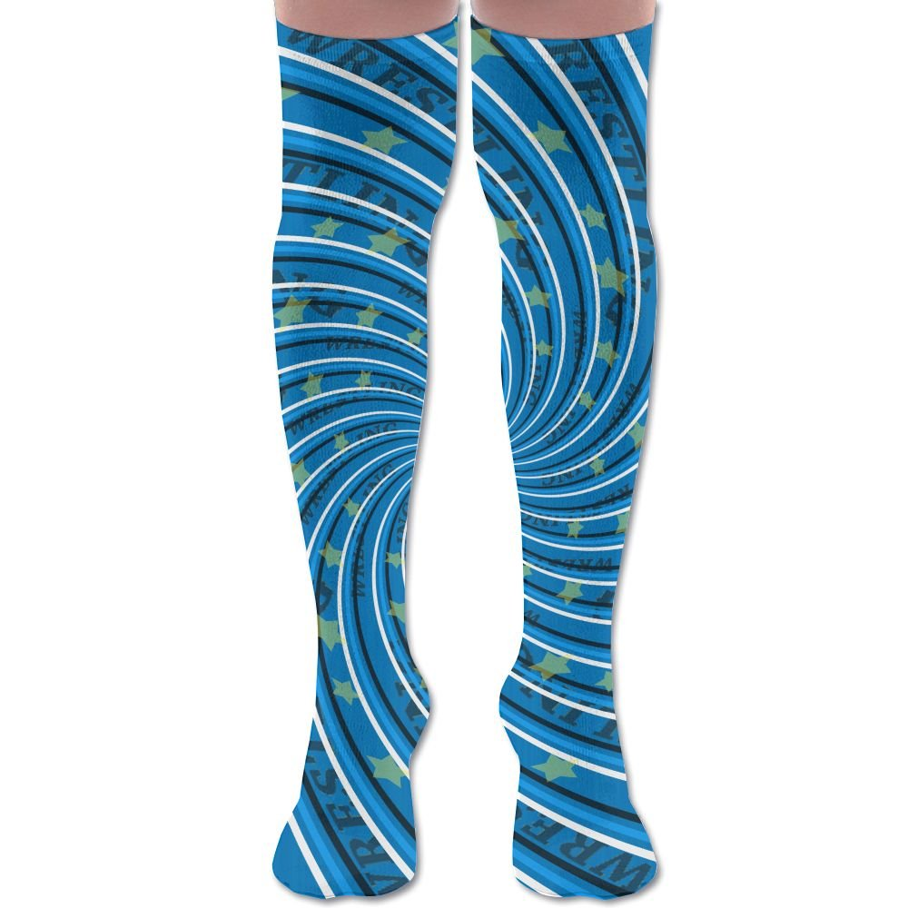 XYMNZGS Crazy American Wrestling Womens Socks Knee High Crew Socks For Softball Mens Socks by XYMNZGS
