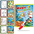 FieryLove Magic Water Coloring Book, Drawing Book Doodle with Magic Pen for Boys Girls Toddlers Learning Education