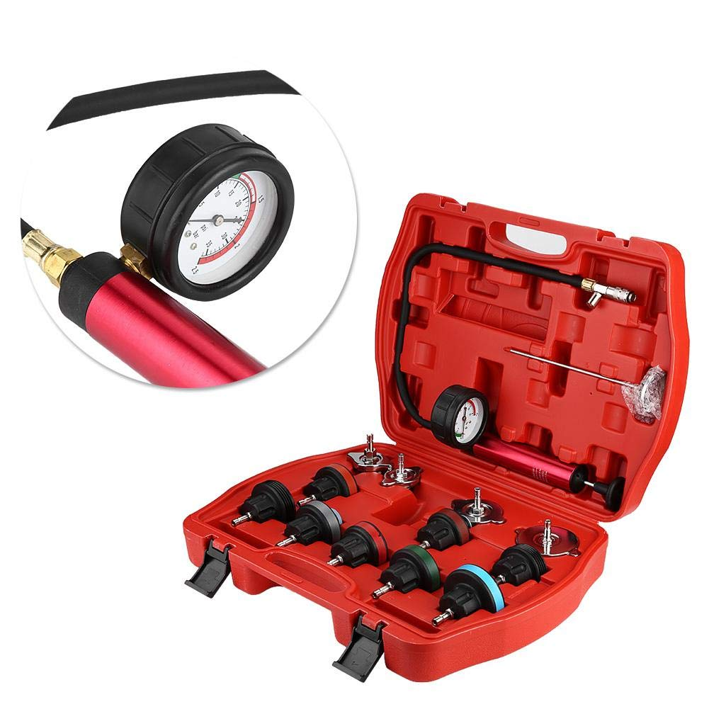 Cooling System Tester, 14pcs Universal Car Water Tank Leak Tester Cooling System Detector Tool Kit by Aramox (Image #4)