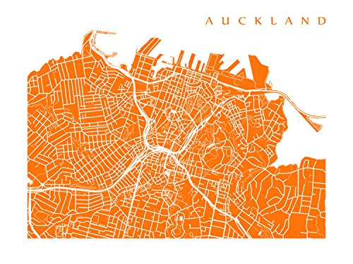 New Zealand Auckland Map.Amazon Com Auckland Map Print Handmade