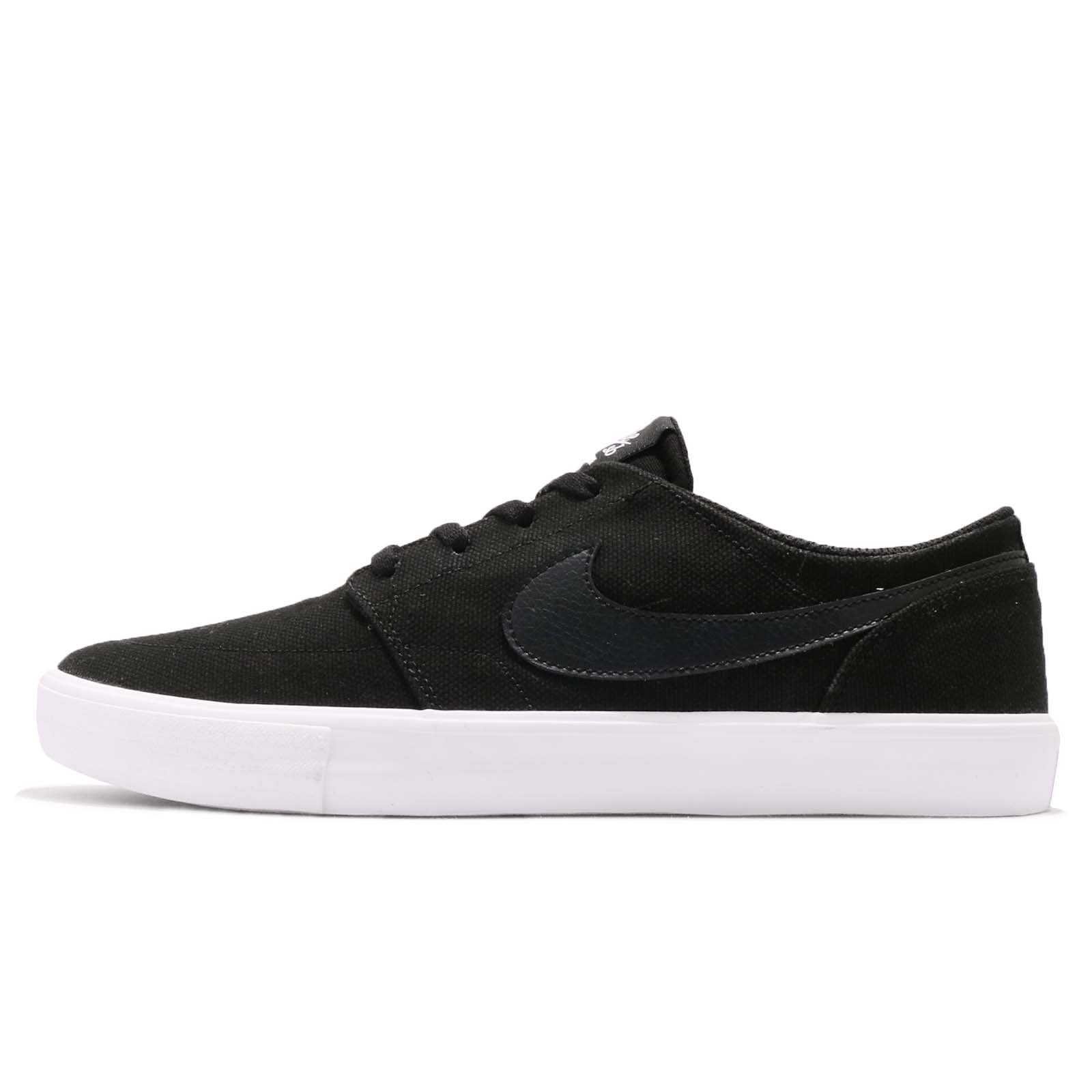 f0e5f57d843646 Galleon - NIKE Men's SB Portmore II Solar CNVS, Black/Black-White, 9.5 M US