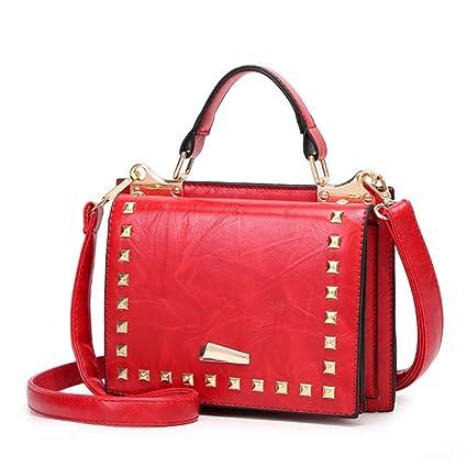 6b008c817212 Amazon.com  WJL Fashion Handbag Diagonal Handbag Double-Sided Female Bag  Fashion Small Square Bag Temperament Messenger Bag Shoulder Bag