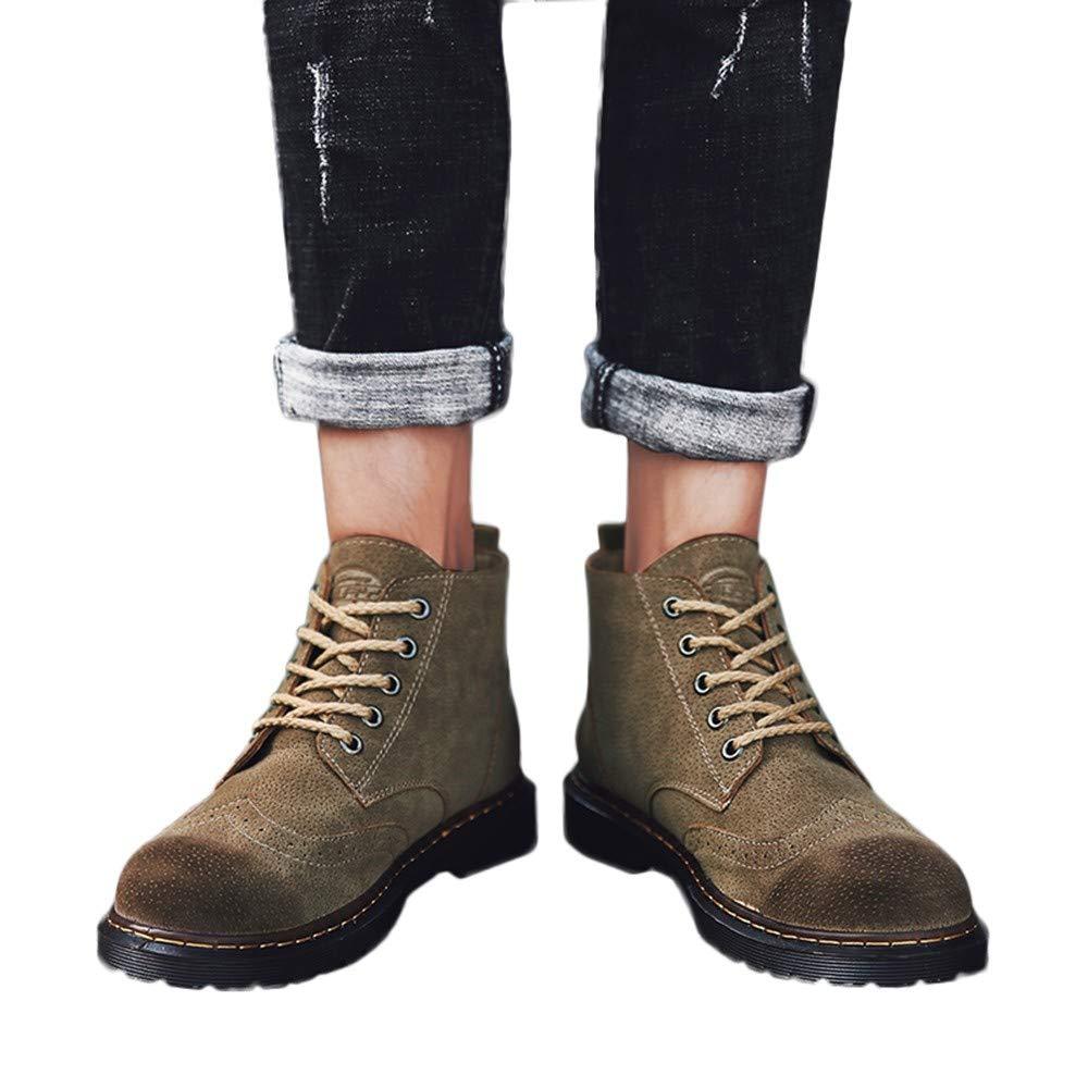 Zapatos de hombre JiaMeng Botas de otoño Invierno de Hombre Casual Navidad Boots Botas Navidad Retro Botas de Herramientas Botas británicas Botas Casuales ...
