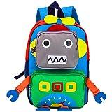 TeMan Cartoon Backpack Leisure Backpack Robot(Green)