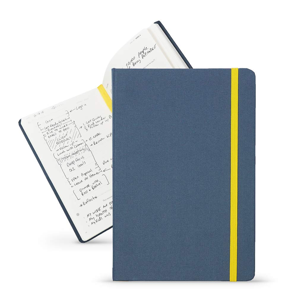 BestSelf Co. The SELF Journal - Planner 2019-2020 - Monthly, Weekly, Daily Planner - Increase Productivity and Happiness - Undated Hardcover - Navy by BestSelf Co.