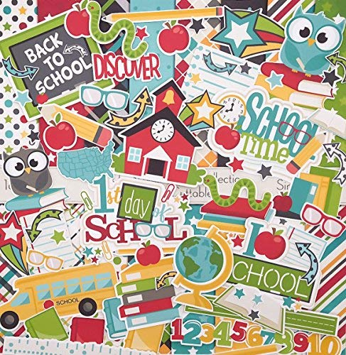 - Back to School Set - Matching Die Cuts & Paper Kit by Miss Kate Cuttables - 16 Single - Sided 12