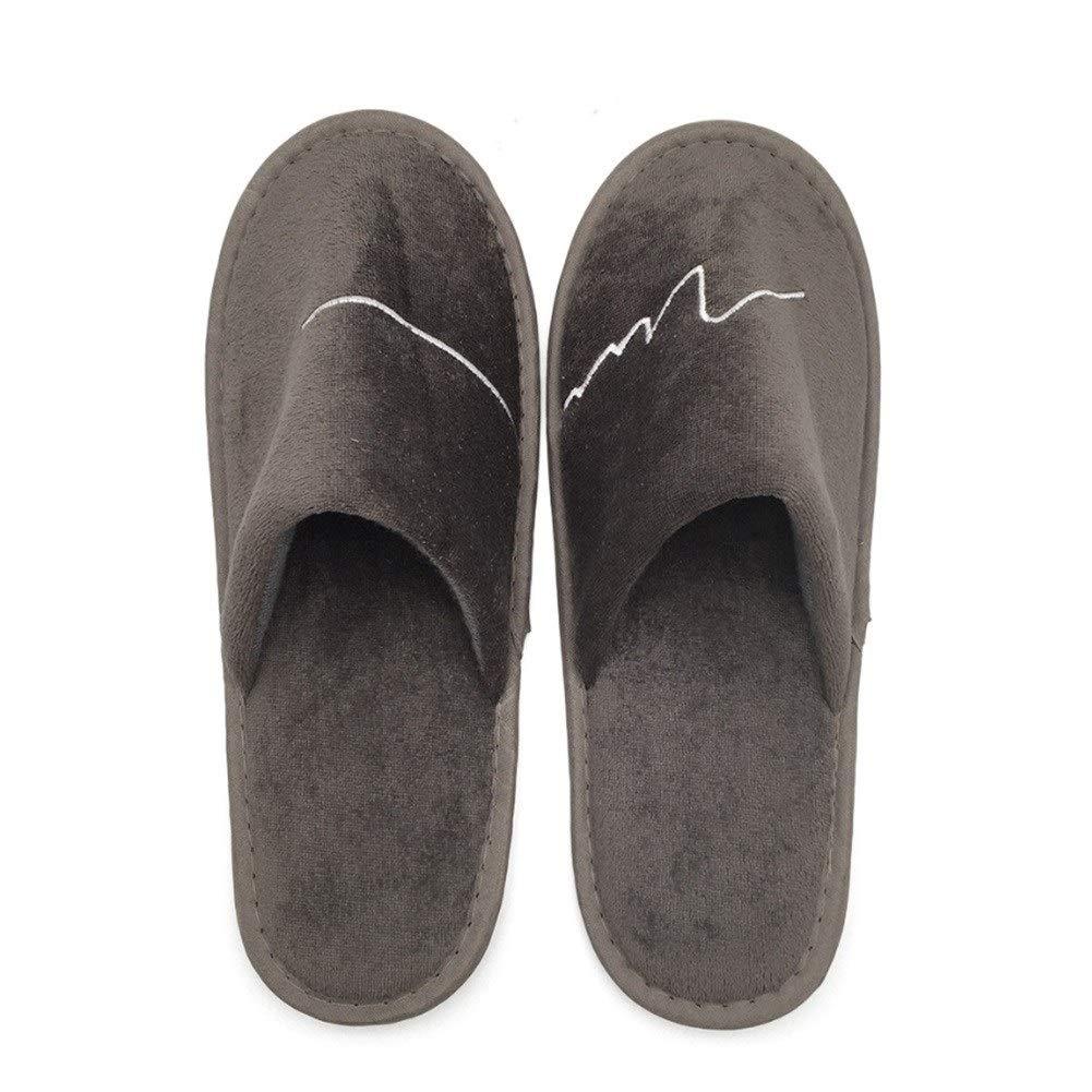 100ペア - 使い捨てスリッパ、メンズスリッパ厚く旅行客用靴ホームゲストスリッパ秋と冬用 B07S7Q393G