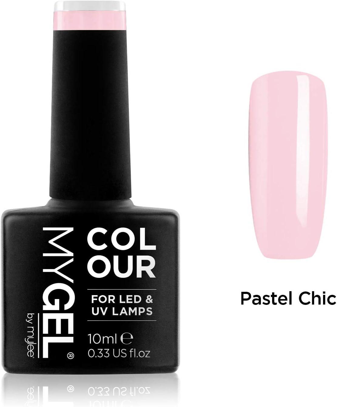 Esmalte de gel para uñas MyGel, de MYLEE (10ml) MG0041 - Pastel Chic UV/LED Nail Art Manicure Pedicure para uso profesional en el salón y en el hogar - Larga duración y