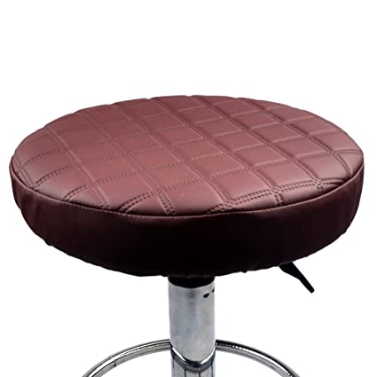 Amazoncom Pinji 2pcs Stool Cover Faux Leather Round Bar Cover Seat
