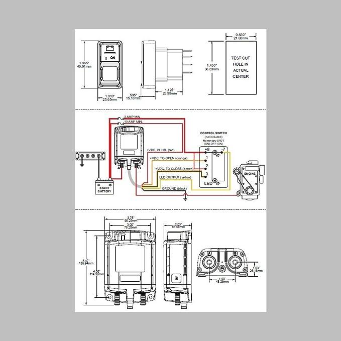 Batterie- Hauptschalter Fernsteuerbar 500A/24Volt / 0mA Standby ...