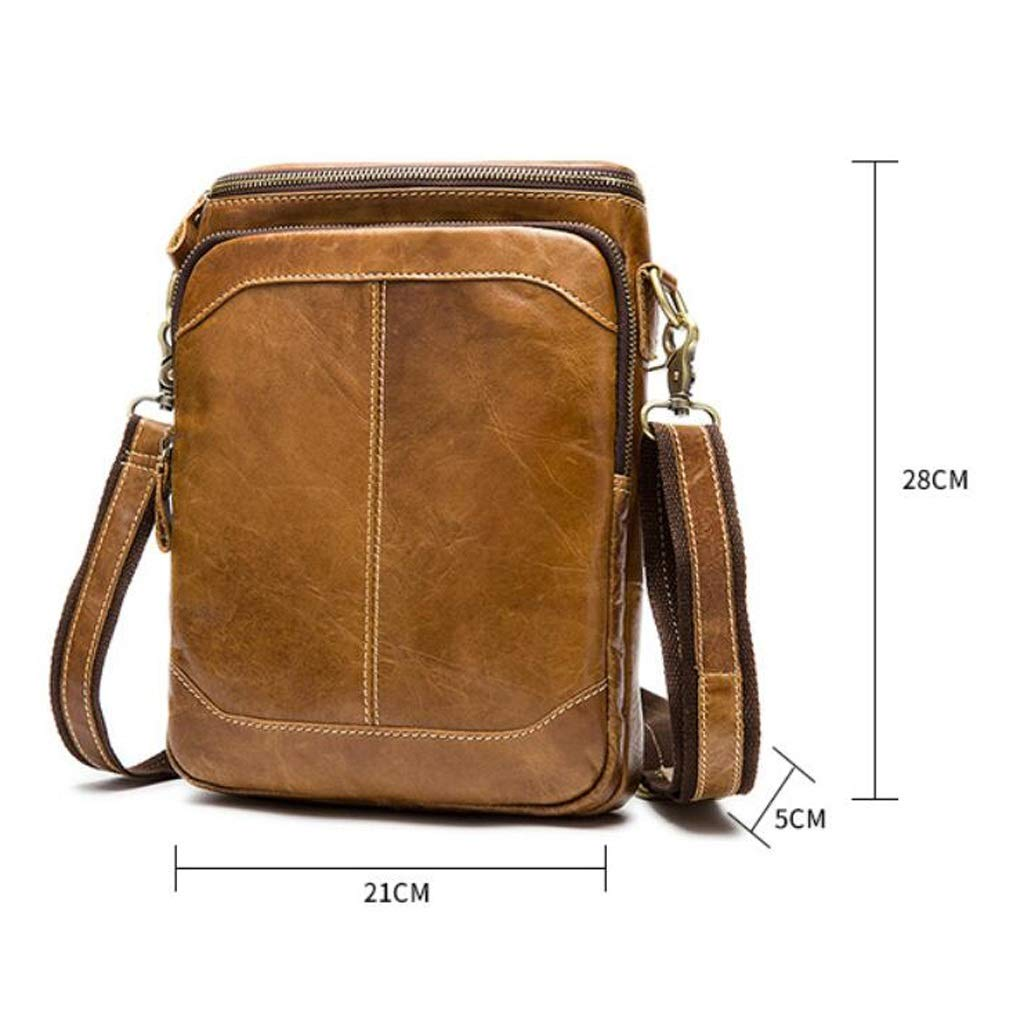 Mens Multi-pocket Shoulder Messenger Bag Casual Business Bag Shopping Gym Exercise 8.261.9611.02 Inch LWH)