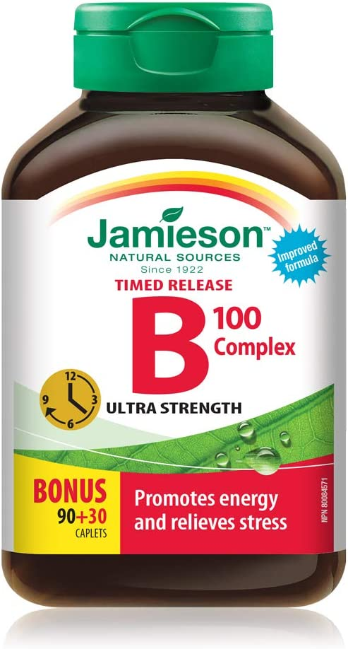 Jamieson B Complex 100mg Time Released Bonus 120 Count