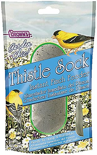 Feeding Frenzy Feeding Station - F.M. Brown's Garden Chic Thistle Sock Finch Feeder, 13-Ounce