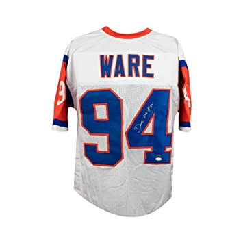 detailed look 7d320 a8ae0 DeMarcus Ware Autographed Denver Broncos Custom Throwback ...