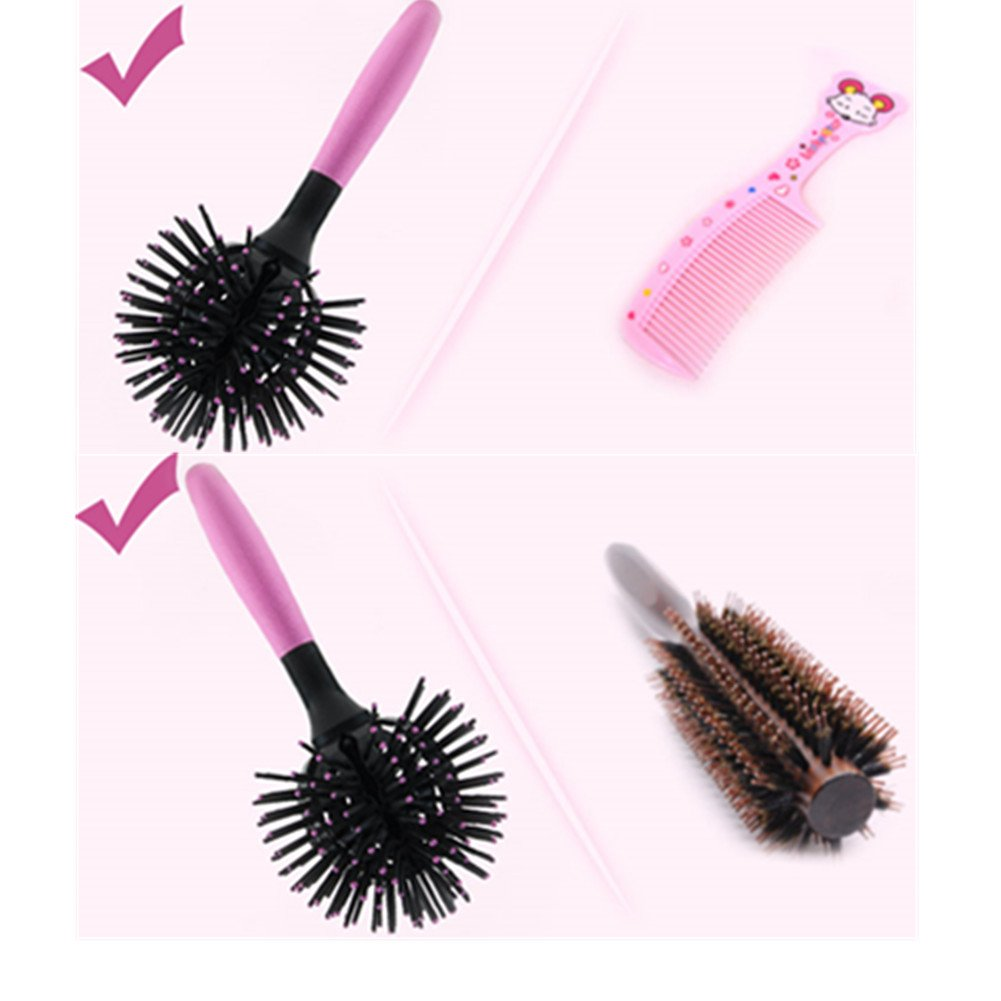 Pevor 3D Spherical Comb 360° DIY Curly Hairstyle Comb Heat Resistant Round Head Combs Fashion Magic Comb For Girls and Women