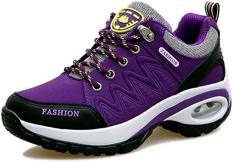 ASTAOT Zapatillas De Deporte para Mujer Zapatos para Correr Blancos Zapatos Deportivos para Aumentar La Altura De La Mujer Zapatos para Caminar para Mujer Rosa,5: Amazon.es: Deportes y aire libre
