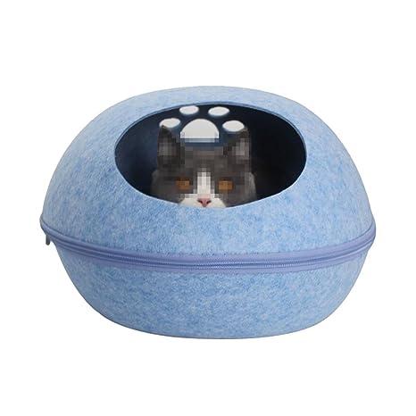 WW-XX Nido De Gato Perrera Forma De Huevo Saco De Dormir De Gato Cuatro