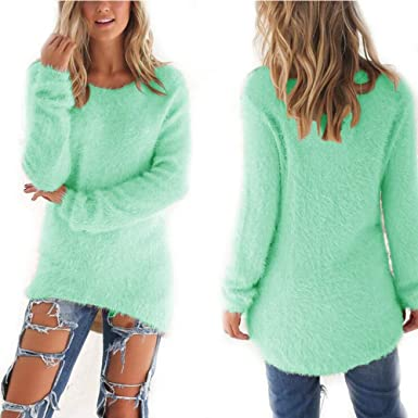 New Years Eve Gifts Autumn Winter Womens O Neck Sweater Hedging