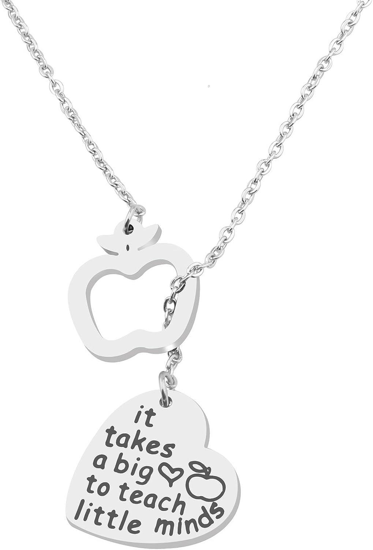 MAOFAED Teacher Bracelet It Takes a Big Heart Bracelets Term Begins/end Teachers Gift Motivational Necklace Jewelry Gift