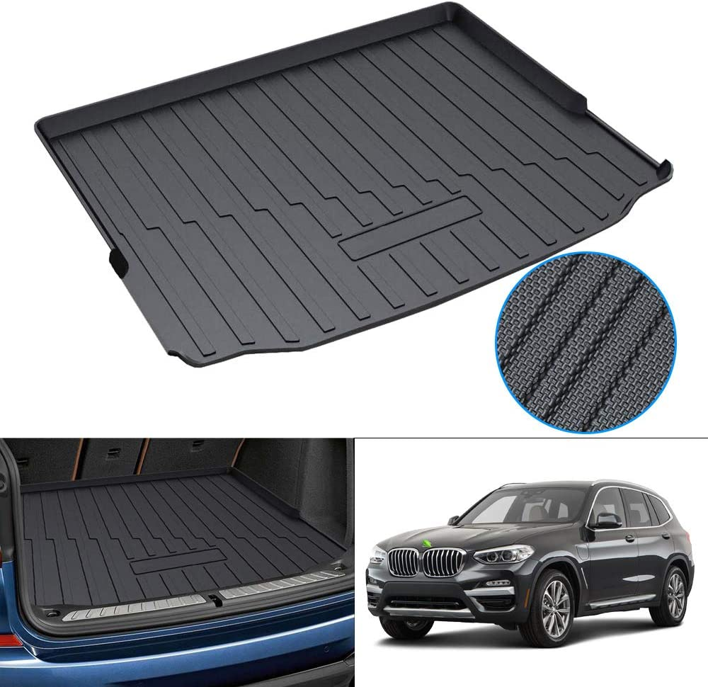 Amazon Com Powerty Trunk Mat All Weather Tpo Rear Cargo Liner For Bmw G01 X3 2018 2019 2020 2021 Upgrade Material Automotive