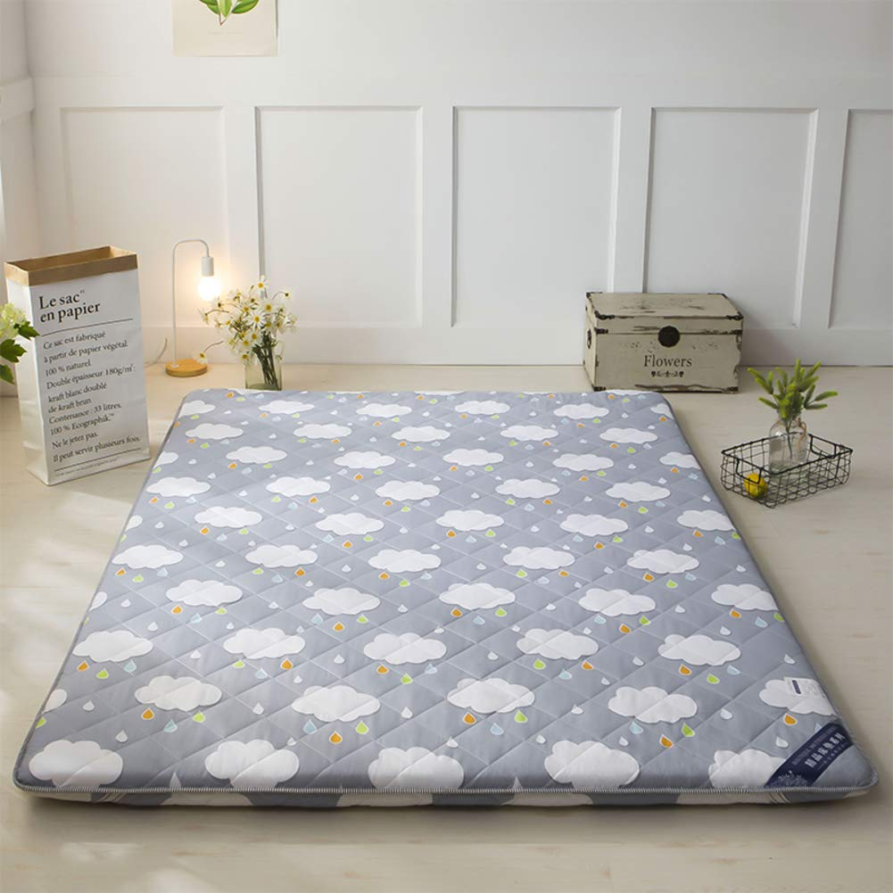 KELE Atmungsaktive Langsam Rebound Japanischen Boden futon-matratze,Faltbare Tatami matthick Bett matratzenauflage Multi-Size Stereo-matratze Harte Baumwolle polsterung f/üllung-A 90x190x6cm