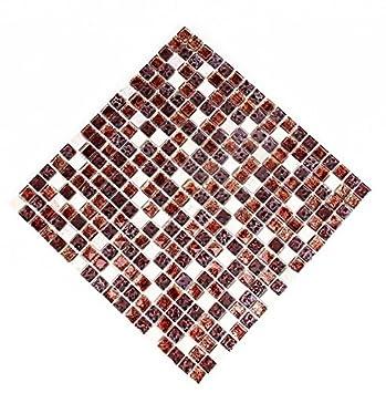Glasmosaik 30x30cm Glasfliesen Glanz Mosaikfliese Bodenfliesen Fliesen  Bordüre Wanddeko Mosaiksteine Matte Küche Badezimmer Wandfliese Wohnzimmer  Boden