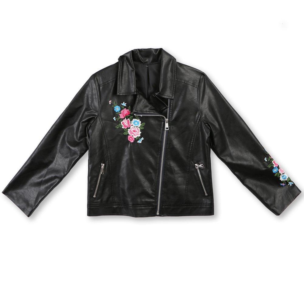 Noir Taille M Speechless Fille Embroiderouge Moto veste  Veste