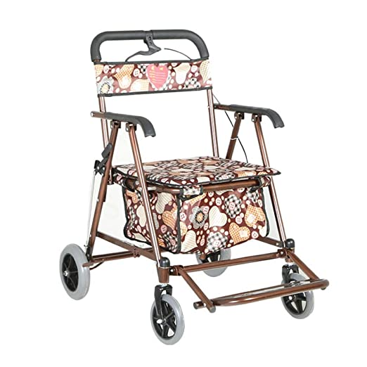 ACZZ Shopping Trolley Bag with Seat - Walk Rest Folding 4 ...
