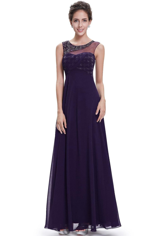 Molly Damen Reine Farbe Lange Abendkleid Ziemlich Eleganten