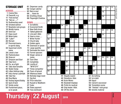 Calendar Pages Crossword : Mensa minute crossword puzzles page a day calendar
