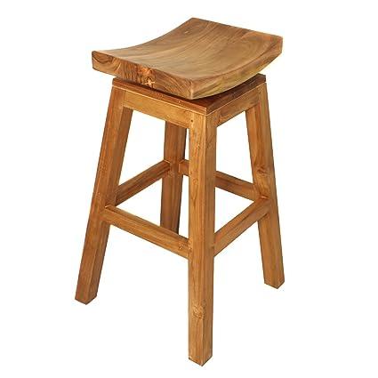 Stupendous Amazon Com Urban Designs Imported 30 Solid Wood Swivel Bar Creativecarmelina Interior Chair Design Creativecarmelinacom