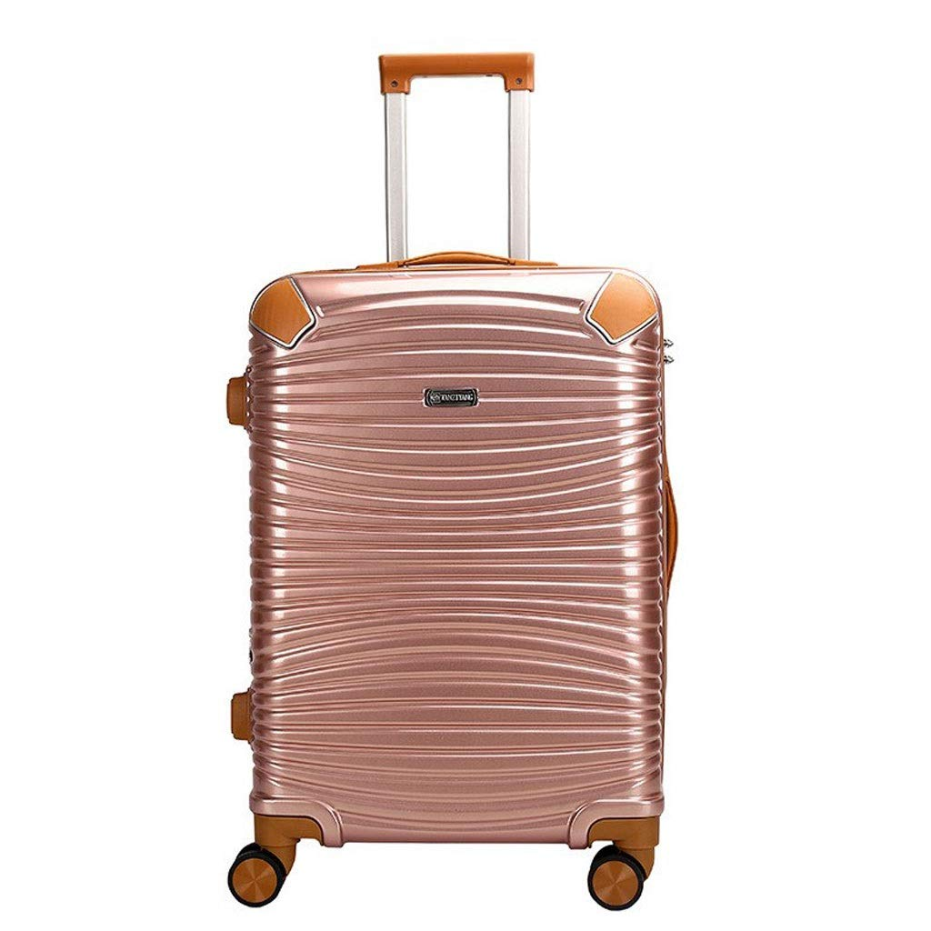 20 Inch/Rose Gold Hand Luggage suitcases Bag Luggage Lightweight Hard Case with TSA Lock and 4 Rotating Wheels Travel Trolley Luggage Suitcase Suitcase Size : 20 inches/46x23x33cm