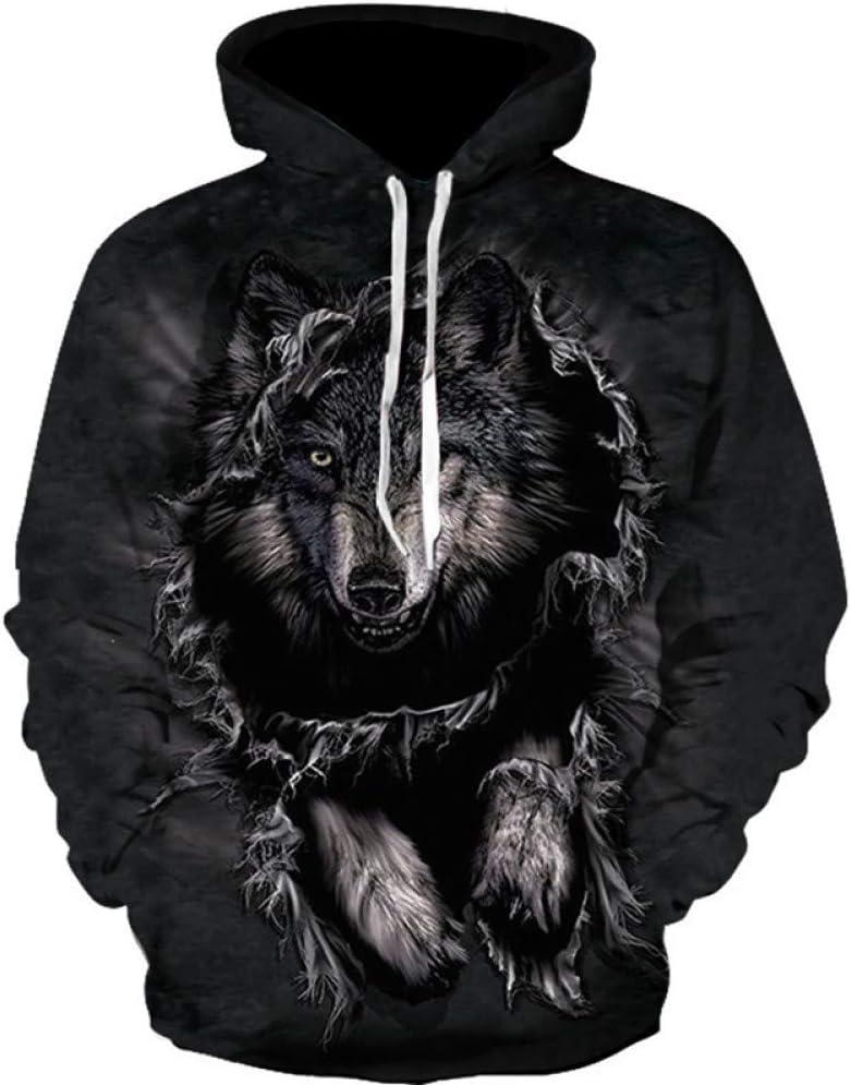 BAI Aassdd Sweatshirts Hommes 3D Ptrinted Drôle Sweat Pullover Fit Homme Sweats Hip Hop Vêtements,S * L