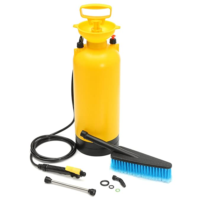 8L Portable Pressure Washer Power Pump Spray Car Wash Brush Hose Lance Cleaner