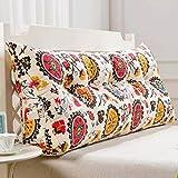 LXY Double Bed Triangle Cushion Pillow Pillow Lumbar Pillow Sofa Back Soft Bag Bed Linen Waist Sofa Cushion (Color : B, Size : 150cm (5 Buttons))