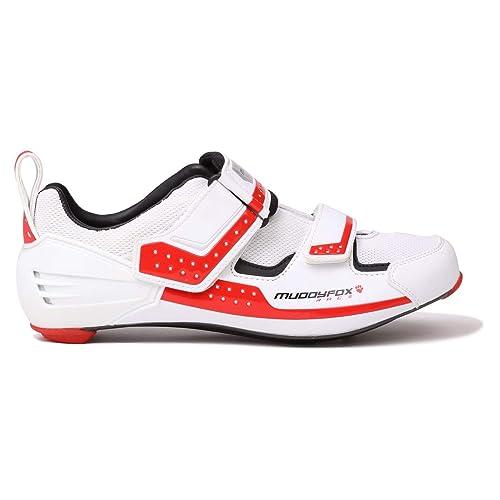 513f5c93199ae Amazon.com   Official Muddyfox TRI Carbon Cycling Shoes Mens White ...