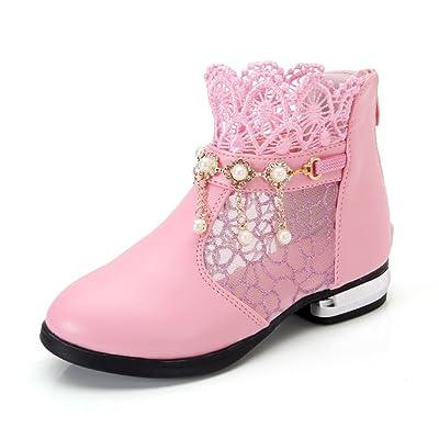 ALUK- Chaussures pour enfants - Chaussures coréennes Chaussures simples mignonnes Chaussures princesses Sandales nettes antidérapantes ( Couleur : Rose , taille : 34 )