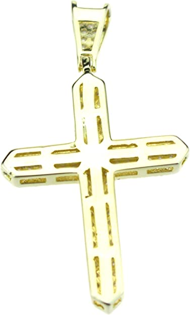 13mm 18K Gold Filled CZ Micro Pave Cross Pendant Cross Charm Crucifix Freshwater Pearl Cross Charm Pendant Cross Necklace CP1139-A818