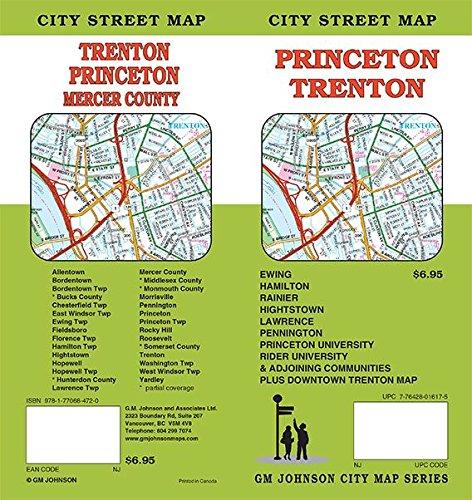 Princeton Trenton New Jersey Street Map GM Johnson