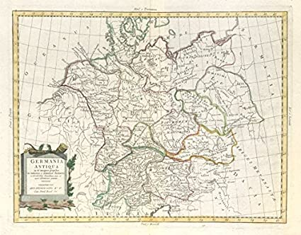 Map Of Germany Divided.Amazon Com Germania Antiqua Ancient Germany Divided Into