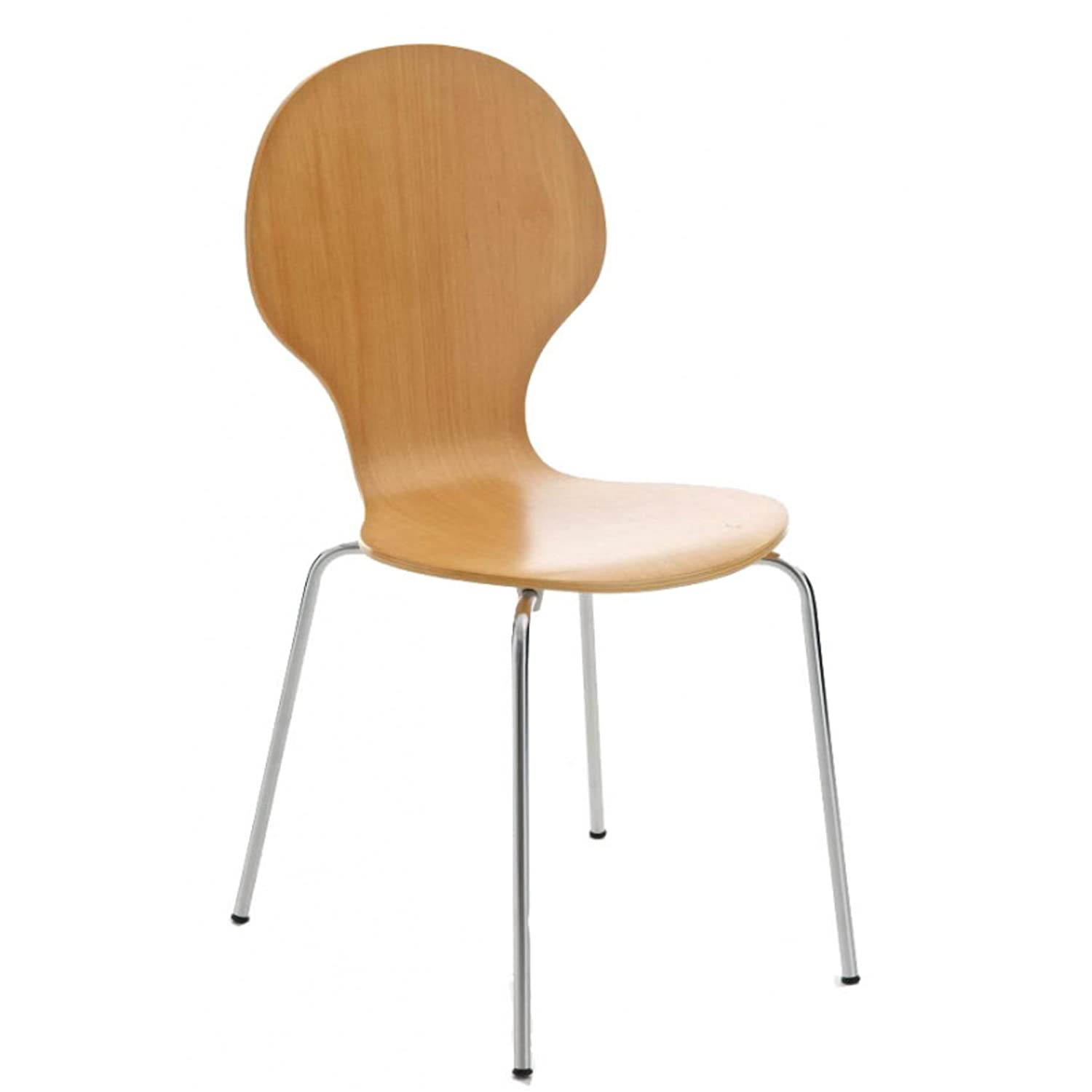 Your Price Furniture.com Kimberley Dining Set Natural Table and 4 Natural Chrome Metal Keeler Style Stackable Dining Chairs Kitchen Cafe Bistro Chairs /& Small Round Table