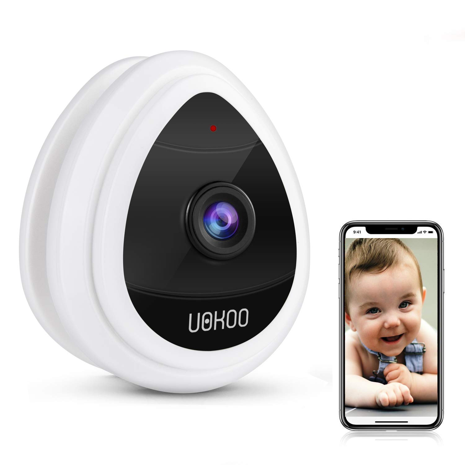 Mini IP Camera, Wifi Wireless Security Smart IP Camera Surveillance System Remote Monitoring with Motion Email Alert/Remote Monitoring For Pet Baby Elder Pet Nanny Monitor by UOKOO